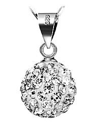 cheap -Women's Birthstones Pendant Necklace Silver Sterling Silver Pendant Necklace , Daily Casual