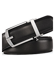 cheap -Colors Ratchet Belt Luxurious  Genuine Leather Pin Buckle Belt Can Adjust Size