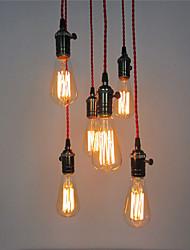 abordables -Vintage Mini Estilo Lámparas Colgantes Luz Ambiente Para Sala de estar Dormitorio Cocina Comedor Habitación de estudio/Oficina Vestíbulo