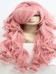 cheap -Costume Wigs / Synthetic Wig Wavy Layered Haircut / With Ponytail / With Bangs Middle Part Pink Women's Carnival Wig / Halloween Wig /