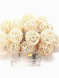 brelong 20-led 2m luce bianca calda decorazione festa di Natale stringa (DC4.5V)