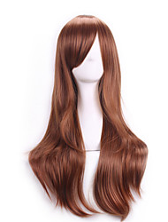 cheap -70 Cm Harajuku Anime Colorful Cosplay Wigs Young Long Curly Synthetic Hair Wig Blonde Wigs For Halloween Costume