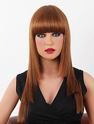 senza cappuccio di alta qualità lungo rettilineo mono capelli umani parrucche superiori 9 colori tra cui scegliere