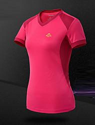cheap -Women's Hiking T-shirt Outdoor Breathable Sweat-wicking T-shirt Top Camping / Hiking Climbing Leisure Sports Cycling / Bike Running