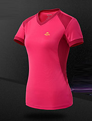 Femme Tee-shirt de Randonnée Respirable Anti-transpiration Tee-shirt Hauts/Top pour Camping / Randonnée Escalade Sport de détente