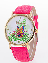 cheap -Women's Fashion Watch Quartz Hot Sale Leather Band Butterfly Black White Blue Red Brown Pink Rose