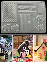 Недорогие -Печенья печенья торта прессформы дома 3d шоколада для инструментов кухни xmas