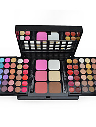 cheap -Make-up For You® 78 Color Eyeshadow Palette + Blush Shimmer/Dry/Mineral Powder Professional Halloween Party makeup/Smokey makeup Makeup Palettes