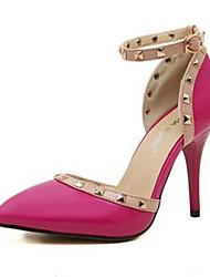 baratos -Mulheres Sapatos Couro Ecológico Primavera / Outono Salto Agulha Preto / Rosa claro / Amêndoa