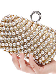 cheap -Women's Bags Polyester Evening Bag Imitation Pearl / Crystal / Rhinestone Silver / Red / Blue