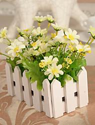 Ramo Seda Plástico Margaridas Flor de Mesa Flores artificiais