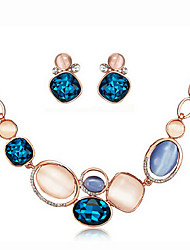 cheap -Women's Rhinestone Silver Plated Opal Jewelry Set Earrings Necklace - Necklace / Earrings For Party Daily