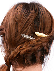 Women Casual Alloy Feather Hairpin Hair Accessories 1pc