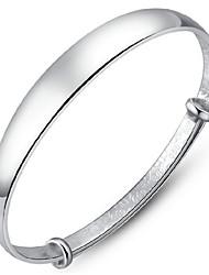 abordables -Femme Bracelets Rigides Manchettes Bracelets Original Mode bijoux de fantaisie Plaqué argent Bijoux Bijoux Pour Mariage Soirée Quotidien