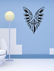 cheap -4124 Angel Wings Cross Wall Stickers Jesus God Bless Church Bedroom Decorations Christmas Vinyl Home Decals Art