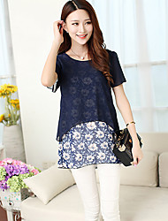 cheap -Women's Vintage Blouse Layered Print