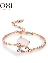 cheap -18k Gold /Silver Crystal Bracelet Bangle Jewelry for Lady