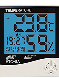 cheap -Humidity Mete LCD Digital HTC-8 Temperature Instruments Thermometer Hygrometer Temperature Humidity Meter Clock