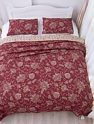 100% Cotton Fashion 3 Pieces Quilted Bedspread Set, Queen Size