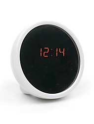 cheap -Creative Mute Table Clock Electronic Clock LED Clock Beauty Alarm Clock with Mirror(Assorted Color)