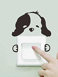 cheap -Wall Stickers Wall Decals Style Lovely Dog Switch PVC Wall Stickers