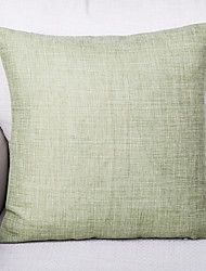 cheap -1 pcs Linen Pillow Cover, Textured Traditional