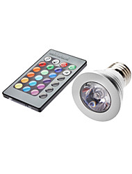cheap -YWXLight® 4W E26/E27 LED Spotlight MR16 1 leds 350-450lm RGB Remote-Controlled AC 85-265