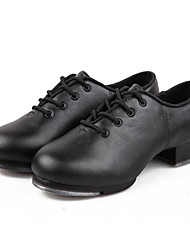 cheap -Children's Tap Leatherette Oxford Beginner Low Heel Black Non Customizable