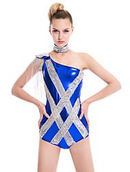 Abbigliamento da sera Unitard Per donna Elastene / Poliester / Satin elastico / Paillettes Paillettes / Fiocco Senza maniche