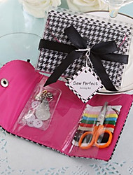 cheap -Black & White Houndstooth Sewing Kit Wedding Favor