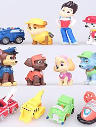 Недорогие -Экшен-фигурки Собаки Автомобиль пластик Мальчики Девочки Игрушки Подарок 12 pcs