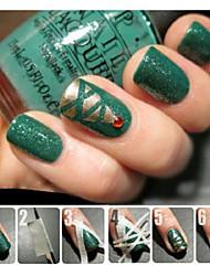 abordables -el patrón de herramientas de esmalte de uñas para hacer pegatinas creativas cinta manicura cinta adhesiva