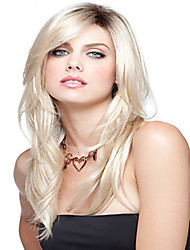 cheap -Synthetic Wig Straight Blonde Women's Capless Carnival Wig Halloween Wig Medium Synthetic Hair