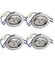 3W Luces Empotradas Descendentes Luces Empotradas 3 LED de Alta Potencia 300 lm Blanco Cálido Decorativa AC 85-265 V 4 piezas