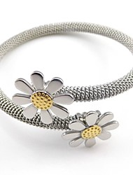 Stainless Steel Daisy Clasp Spring Stainless Steel Wire Rope Bangle