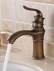 billige -Antik Centersat Udbredt Keramik Ventil Enkelt håndtag Et Hul Antik Kobber, Håndvasken vandhane