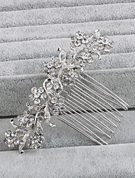 cheap -Rhinestone Hair Combs Headpiece Wedding Party Elegant Feminine Style