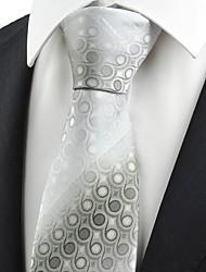 Ash Grey Gradient Swirl Paisley Pattern Men's Tie Necktie Formal Suit Gift KT0048