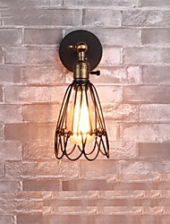 Vintage Style Industrial Opening and Closing Light Wall Sconce Cage Lamp  Loft Restoring Ancient Ways Wall Lamp