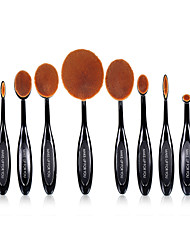 10 Brush Sets Syntetisk Hår Professionelt Fuld Dækning Plastik Ansigt Øjne Læbe MAKE-UP FOR YOU