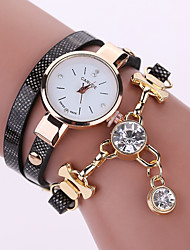 Women's Quartz Analog White Case Multilayer Leather Band Bracelet Wrist Fashion Watch Jewelry Cool Watches Unique Watches