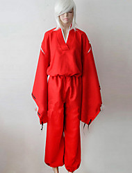 cheap -Inspired by InuYasha Inu Yasha Anime Cosplay Costumes Cosplay Suits Kimono Solid Long Sleeves Top Pants Belt For Men's Women's