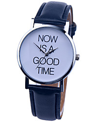 Vintage Watch Now Is A Good Time Leather Watch Women's Word Watch Mens Watch Unisex Watch Cool Watches Unique Watches