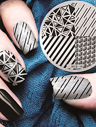 cheap -2016 latest version fashion geometric pattern nail art stamping image template plates