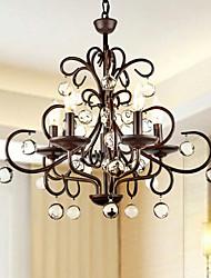 baratos -QINGMING® Lustres Luz Superior - Cristal, Tradicional / Clássico, 110-120V 220-240V Lâmpada Não Incluída