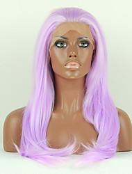 моды синтетические парики фронта шнурка париков 24inch прямой фиолетовый термостойкий волос париков женщин
