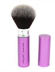 Недорогие -1 Кисть для пудры Синтетические волосы Офис / Путешествия / Антибактериальный / Гипоаллергенный / Переносной Металл Лицо Прочее