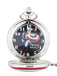 Недорогие -Муж. Карманные часы Кварцевый Старинный Классический Серебристый металл С гравировкой Аналоговый