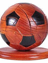 Quebra-cabeças Quebra-Cabeças 3D / Quebra-Cabeças de Madeira Blocos de construção DIY Brinquedos Futebol Americano MadeiraVermelho /
