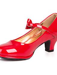 Fille Chaussures à Talons Similicuir Printemps Eté Décontracté Habillé Boucle Gros Talon Noir Rouge Rose Argenté 10 à 12 cm